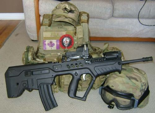 A Canadian TAR21 and chest rig